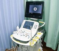 経直腸超音波検査では、細長いプローブを用い肛門周囲の筋肉の状態や膿瘍の様子、直腸内部を確認