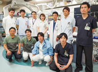 循環器内科およびカテーテル検査室のスタッフ(平成30年7月現在)